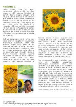 Sunflower Collage Word Template First Inner Page