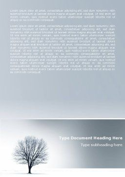 White Spaces Word Template Cover Page