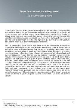 White Spaces Word Template Second Inner Page