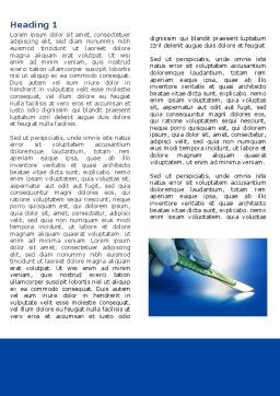 Scalpel Word Template, First Inner Page, 04589, Medical — PoweredTemplate.com