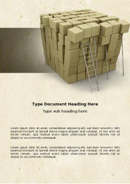 Boxes Word Template, Cover Page, 04591, Construction — PoweredTemplate.com