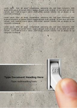 Switch Off Word Template, Cover Page, 04595, Consulting — PoweredTemplate.com