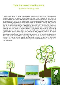Green Solution Word Template, Cover Page, 04597, Nature & Environment — PoweredTemplate.com