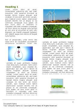 Green Solution Word Template, First Inner Page, 04597, Nature & Environment — PoweredTemplate.com