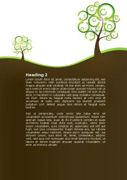 Green Solution Word Template, Second Inner Page, 04597, Nature & Environment — PoweredTemplate.com