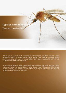 Mosquito Word Template, Cover Page, 04599, Agriculture and Animals — PoweredTemplate.com