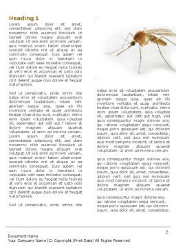 Mosquito Word Template, First Inner Page, 04599, Agriculture and Animals — PoweredTemplate.com