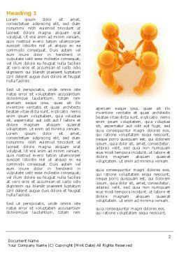 Unanimity Word Template, First Inner Page, 04601, Consulting — PoweredTemplate.com
