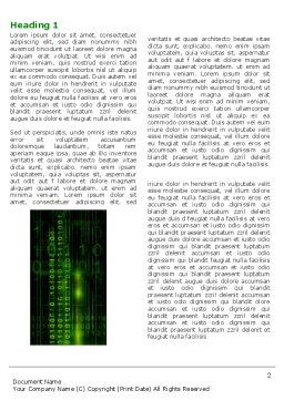 Matrix Code Word Template, First Inner Page, 04604, Technology, Science & Computers — PoweredTemplate.com