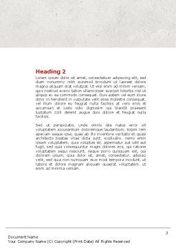 Captain Word Template, Second Inner Page, 04615, Business Concepts — PoweredTemplate.com