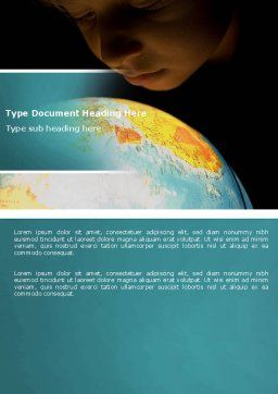 World Overview Word Template, Cover Page, 04617, Education & Training — PoweredTemplate.com