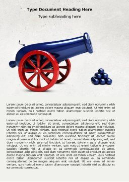 Cannon Word Template, Cover Page, 04618, Military — PoweredTemplate.com