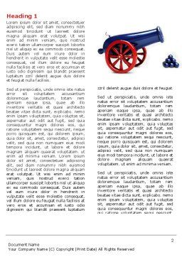Cannon Word Template, First Inner Page, 04618, Military — PoweredTemplate.com