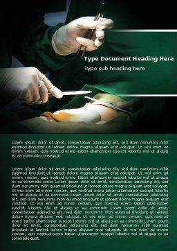 Surgical Incision Word Template, Cover Page, 04619, Medical — PoweredTemplate.com