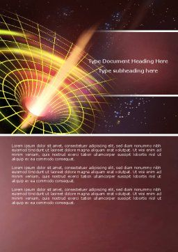 Black Hole Word Template, Cover Page, 04628, Technology, Science & Computers — PoweredTemplate.com