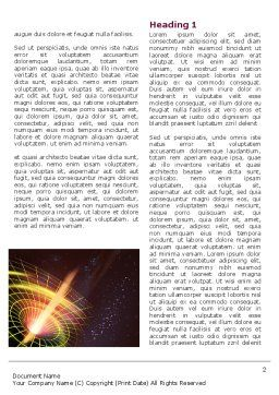 Black Hole Word Template, First Inner Page, 04628, Technology, Science & Computers — PoweredTemplate.com