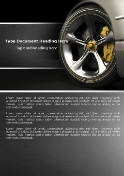 Driving Wheel Word Template, Cover Page, 04629, Cars/Transportation — PoweredTemplate.com