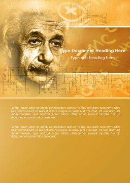Einstein Word Template, Cover Page, 04631, People — PoweredTemplate.com
