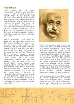 Einstein Word Template, First Inner Page, 04631, People — PoweredTemplate.com