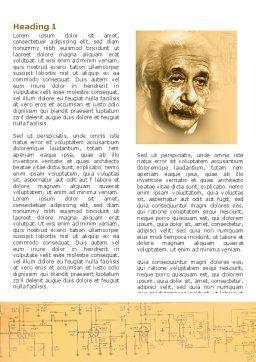 Einstein Word Template First Inner Page