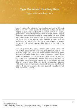 Einstein Word Template Second Inner Page