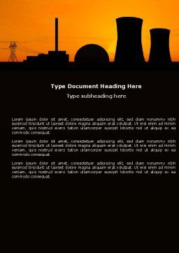 Nuclear Power Plant Word Template, Cover Page, 04632, Utilities/Industrial — PoweredTemplate.com
