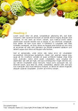 Fruit Profusion Word Template Second Inner Page