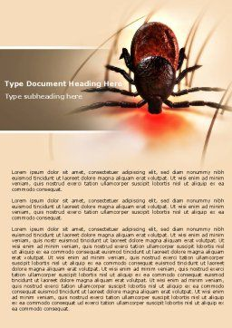 Mite Word Template, Cover Page, 04636, Medical — PoweredTemplate.com