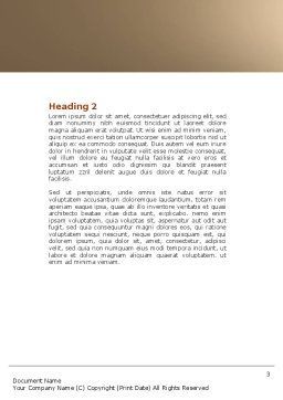 Mite Word Template, Second Inner Page, 04636, Medical — PoweredTemplate.com