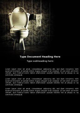 Toilet Word Template, Cover Page, 04638, Careers/Industry — PoweredTemplate.com