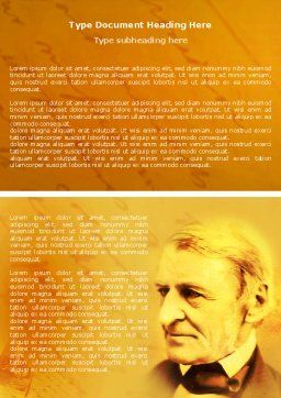 Ralph Waldo Emerson Word Template, Cover Page, 04642, Education & Training — PoweredTemplate.com