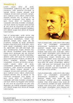Ralph Waldo Emerson Word Template, First Inner Page, 04642, Education & Training — PoweredTemplate.com