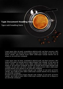Coffee Shop Word Template, Cover Page, 04643, Food & Beverage — PoweredTemplate.com