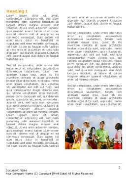 Golf Fun Word Template, First Inner Page, 04646, Sports — PoweredTemplate.com