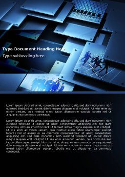 Business Solution Word Template, Cover Page, 04647, Business — PoweredTemplate.com