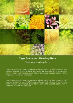Floristic Word Template Cover Page