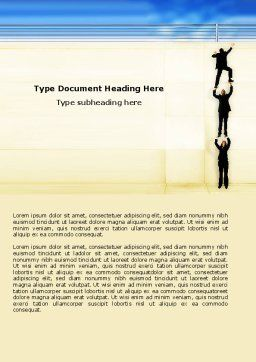 Reaching Success Word Template, Cover Page, 04649, Business Concepts — PoweredTemplate.com