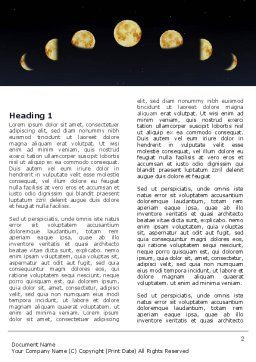 Lunar Phases Word Template, First Inner Page, 04650, Education & Training — PoweredTemplate.com