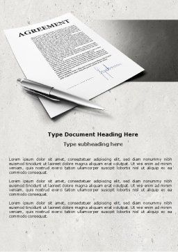 Agreement Word Template, Cover Page, 04652, Consulting — PoweredTemplate.com