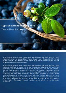 Bilberry Word Template, Cover Page, 04655, Agriculture and Animals — PoweredTemplate.com