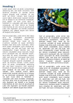 Bilberry Word Template, First Inner Page, 04655, Agriculture and Animals — PoweredTemplate.com