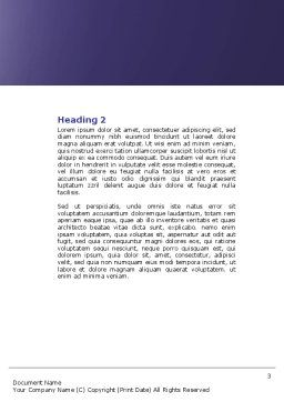 Panel Word Template, Second Inner Page, 04657, Telecommunication — PoweredTemplate.com