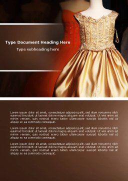 Costume Word Template, Cover Page, 04658, Careers/Industry — PoweredTemplate.com