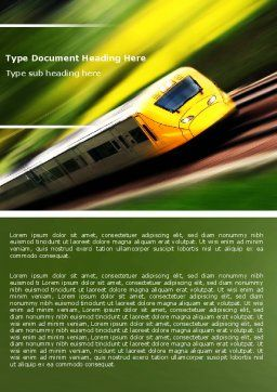 High-Speed Rail Word Template, Cover Page, 04659, Cars/Transportation — PoweredTemplate.com