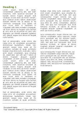 High-Speed Rail Word Template, First Inner Page, 04659, Cars/Transportation — PoweredTemplate.com