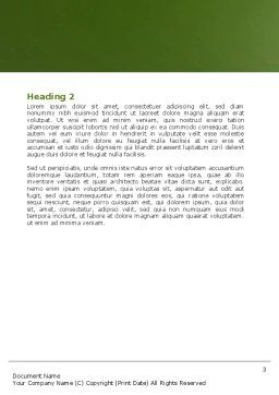 High-Speed Rail Word Template Second Inner Page