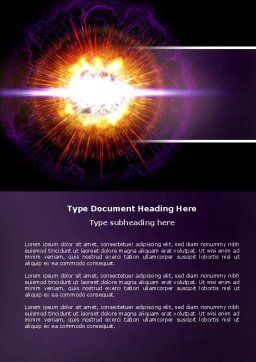 Supernova Word Template, Cover Page, 04660, Technology, Science & Computers — PoweredTemplate.com