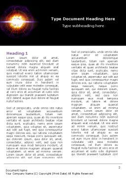 Supernova Word Template, First Inner Page, 04660, Technology, Science & Computers — PoweredTemplate.com