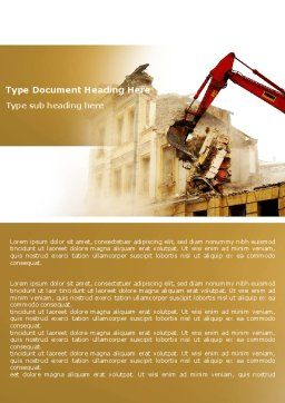 Demolition Word Template, Cover Page, 04661, Construction — PoweredTemplate.com