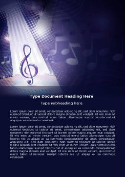 Music Tune Word Template, Cover Page, 04663, Art & Entertainment — PoweredTemplate.com